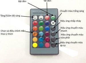 Hướng dẫn dùng điều khiển để điều khiển đèn led đổi màu